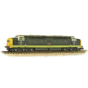 Graham Farish 371-289 Class 55 D9001 'St. Paddy' BR Two-Tone Green with Full Yellow Ends Weathered