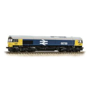 Graham Farish 371-389 Class 66/7 66789 'British Rail 1948-1997' GBRF BR Blue Large Logo