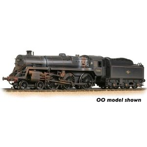 Graham Farish 372-729 BR Class 5MT with BR1B Tender 73050 BR Lined Black Late Crest Weathered