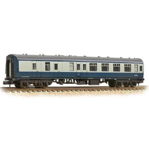 Graham Farish 374-188D BR Mk1 BSK Brake Second Corridor BR Blue and Grey Weathered