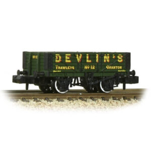 Graham Farish 377-067 5 Plank Wagon Wooden Floor Devlin's Trawlers Green
