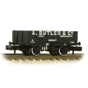 Graham Farish 377-068 5 Plank Wagon Fixed End Wooden Floor A Butler & Co Black