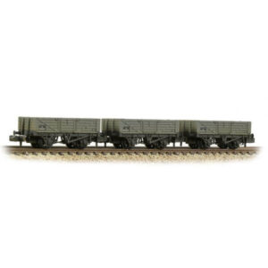 Graham Farish 377-069 5 Plank Wagon Triple Pack BR Grey Early Weathered