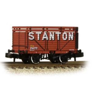 Graham Farish 377-208 8 Plank Wagon with Coke Rails Stanton Red