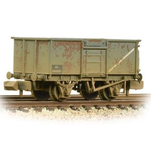 Graham Farish 377-227E 16T Steel Mineral Wagon with Top Flap Doors BR Grey Early Weathered