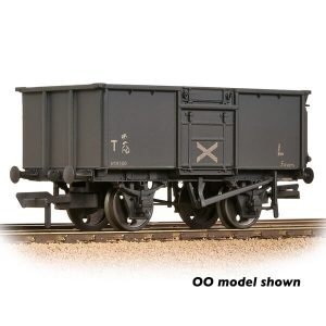 Graham Farish 377-228 16T Steel Mineral Wagon with Top Flap Doors NCB Grey Weathered