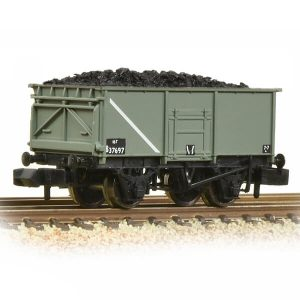 Graham Farish 377-250E 16T Steel Mineral Wagon with Bottom Doors BR Grey Early with load