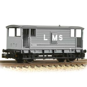 Graham Farish 377-310C LMS 20T Brake Van LMS Grey