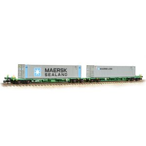Graham Farish 377-369 Intermodal Bogie Wagon with Two 45ft Containers Maersk