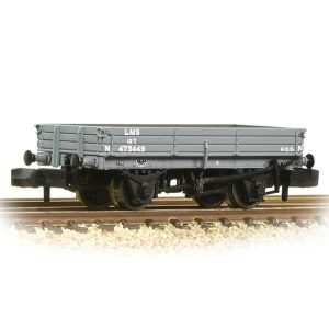 Graham Farish 377-502B 3 Plank Wagon LMS Grey