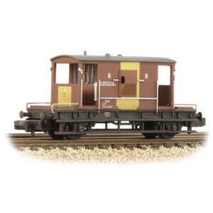 Graham Farish 377-530 20T BR Brake Van BR Bauxite TOPS Weathered