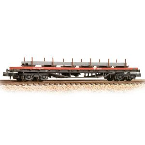 Graham Farish 377-601C 80T BDA Bogie Bolster Wagon BR Railfreight Red Weathered with Load