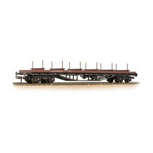 Bachmann 38-154 80T BDA Bogie Bolster Wagon BR Bauxite TOPS Weathered