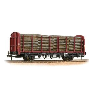 Bachmann 38-301A OTA Timber Carrier Wagon EWS Weathered with load