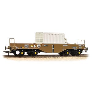 Bachmann 38-345B FNA Nuclear Flask Wagon with Flat Floor with Flask