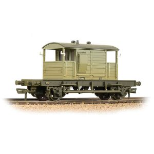 Bachmann 38-401B 25T Pill Box Brake Van BR Grey Early Weathered
