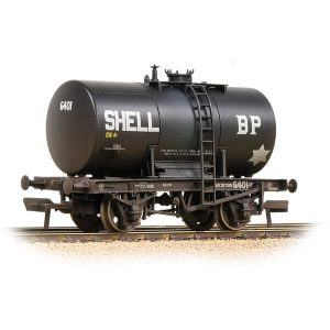 Bachmann 38-776A 20T Class B Anchor-Mounted Tank Wagon Shell BP Black Weathered