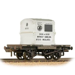Bachmann 37-975B Conflat Wagon GWR Grey with 'GWR' AF Container Weathered