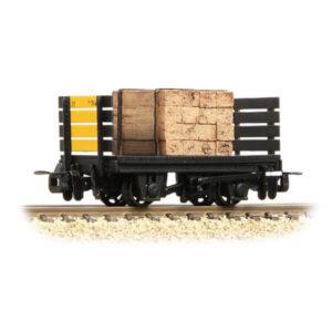 Bachmann 393-175 RNAD Flat Wagon Planked Ends RNAD Dean Hill with Sleeper Load