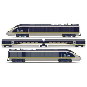 Hornby R3215 Class 373/1 Eurostar e300 Train Pack Blue / Yellow / Grey Livery