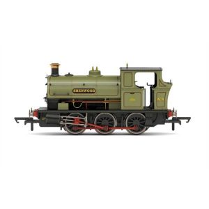 Hornby R3693X Peckett B2 Class No.4 'Sherwood' in Sherwood Colliery Lined Green DCC Fitted