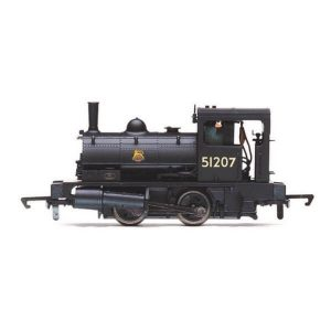 Hornby R3728 Class 21 L&Y 'Pug' 0-4-0ST 51207 in BR Black with Early Crest
