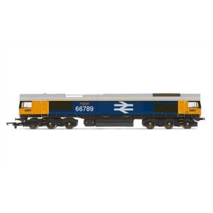 Hornby R3748 Class 66/7 66789 'British Rail 1948-1997' GBRF BR with Large Logo