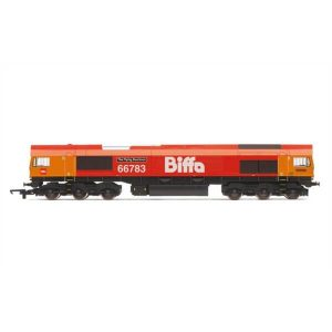 Hornby R3779 Class 66/7 66783 'The Flying Dustman' Biffa Red with GBRF branding