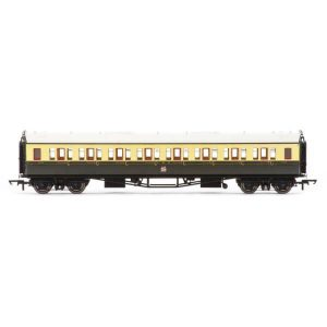 Hornby R4679A Collett Bow Ended Corridor Third GWR Chocolate and Cream