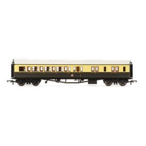 Hornby R4680A Collett Bow Ended Corridor Brake Third (RH) GWR Chocolate and Cream