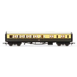 Hornby R4681A Collett Bow Ended Corridor Brake Third (LH) GWR Chocolate and Cream