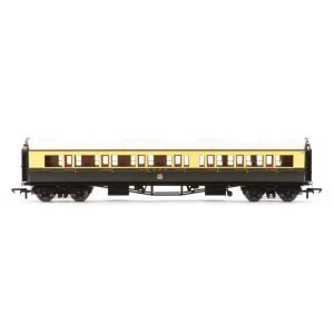 Hornby R4682A Collett Bow Ended Corridor Composite (LH) GWR Chocolate and Cream