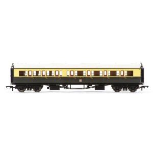 Hornby R4683A Collett Bow Ended Corridor Composite (RH) GWR Chocolate and Cream