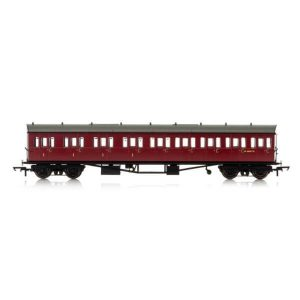 Hornby R4878 Collett 57′ Bow Ended E131 9 Compartment Composite (LH) BR Maroon