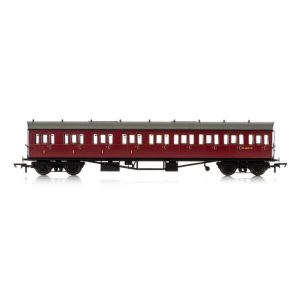 Hornby R4878A Collett 57′ Bow Ended E131 9 Compartment Composite (LH) BR Maroon