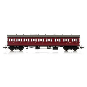 Hornby R4879 Collett 57′ Bow Ended E131 9 Compartment Composite (RH) BR Maroon