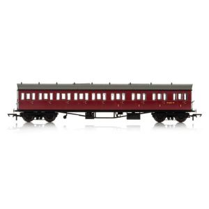 Hornby R4879A Collett 57′ Bow Ended E131 9 Compartment Composite (RH) BR Maroon