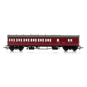 Hornby R4880A Collett 57′ Bow Ended D98 6 Compartment Brake Third (LH) BR Maroon