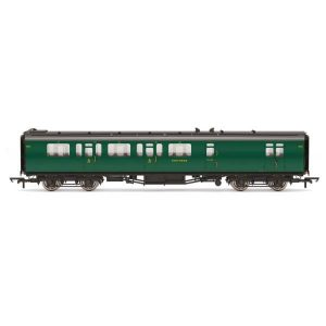 Hornby R4884B Bulleid 59′ Corridor Brake Third SR Green (Set 973)