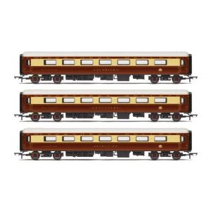 Hornby R4898 DRS Mk2D Coach Pack 'Northern Belle' Umber and Cream