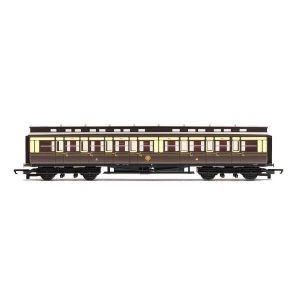 Hornby R4899 C15 Clerestory Corridor Composite GWR Chocolate and Cream