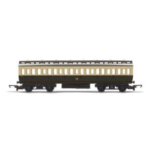 Hornby R4913 Clerestory Third Class Coach GWR Chocolate and Cream RailRoad Range