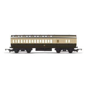 Hornby R4914 Clerestory Brake Coach GWR Chocolate and Cream RailRoad Range