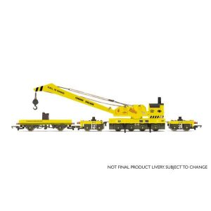Hornby R6897 75T Breakdown Crane BR Departmental Yellow