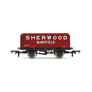 Hornby R6903 7 Plank Wagon Sherwood Colliery No.47