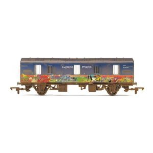 Hornby R6919 CCT Covered Carriage Truck BR Blue Express Parcels with Graffiti