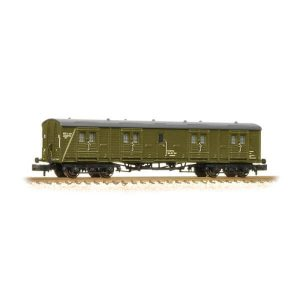 Graham Farish 374-633 Ex-Southern Bogie B Luggage Van BR Departmental Olive