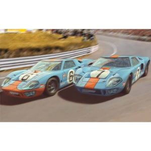 Scalextric C4041A Ford GT40 MKII Gulf Twin Pack Le Mans 1969