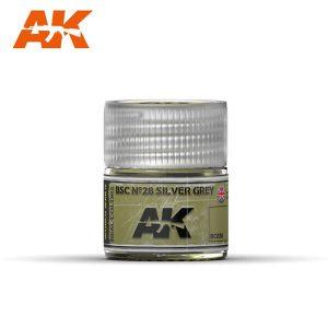 AK Interactive RC038 BSC No.28 Silver Grey