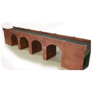 Metcalfe Models PO240 OO/HO Scale Double Track Red Brick Viaduct Kit